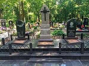 Установка памятников на Смоленском кладбище