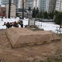Захоронение гроба на свободное место (2 м x 2 м)